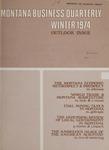 Montana Business Quarterly, Winter 1974