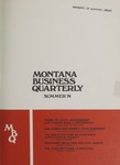 Montana Business Quarterly, Summer 1974