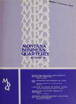 Montana Business Quarterly, Fall 1974