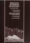 Montana Business Quarterly, Fall 1975