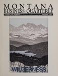 Montana Business Quarterly, Fall 1987