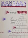 Montana Business Quarterly, Spring 1989