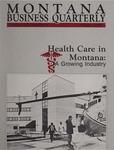 Montana Business Quarterly, Winter 1989