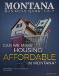 Montana Business Quarterly, Winter 2017 by University of Montana (Missoula, Mont.: 1965-1994). Bureau of Business and Economic Research