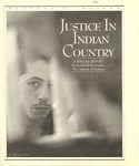 Justice in Indian Country, 1996 by University of Montana--Missoula. School of Journalism. Native News Honors Project