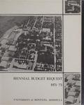 Biennial Budget Request, 1971-1973
