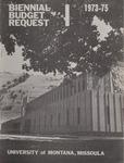 Biennial Budget Request, 1973-1975