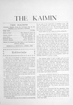 The Kaimin, April 1903 by Students of the University of Montana