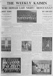 The Weekly Kaimin, May 12, 1910