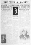 The Weekly Kaimin, September 21, 1911