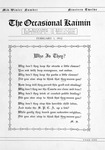 The Occasional Kaimin, February 1, 1912