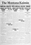 The Montana Kaimin, February 19, 1915