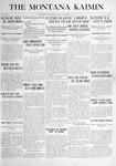 The Montana Kaimin, October 7, 1915