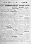 The Montana Kaimin, September 19, 1916