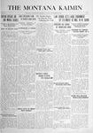 The Montana Kaimin, September 26, 1916