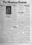 The Montana Kaimin, December 12, 1916