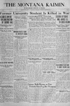 The Montana Kaimin, March 26, 1918