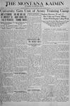 The Montana Kaimin, August 23, 1918