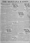 The Montana Kaimin, October 3, 1919