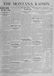 The Montana Kaimin, October 31, 1919
