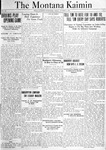 The Montana Kaimin, October 8, 1920