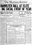 The Montana Kaimin, November 30, 1920