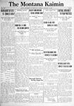 The Montana Kaimin, January 18, 1921