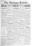 The Montana Kaimin, October 14, 1921