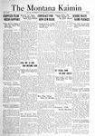 The Montana Kaimin, October 21, 1921