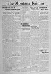 The Montana Kaimin, November 1, 1921