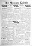 The Montana Kaimin, December 13, 1921