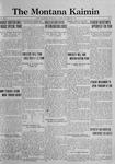 The Montana Kaimin, October 31, 1922