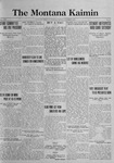 The Montana Kaimin, November 7, 1922