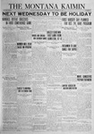 The Montana Kaimin, October 16, 1923