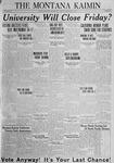 The Montana Kaimin, February 3, 1925