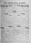 The Montana Kaimin, May 8, 1925