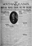 The Montana Kaimin, October 26, 1926