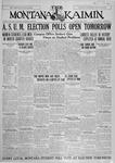 The Montana Kaimin, May 3, 1927