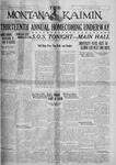 The Montana Kaimin, October 14, 1927