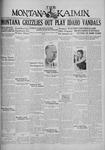 The Montana Kaimin, January 8, 1930