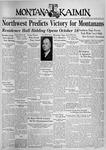 The Montana Kaimin, October 1, 1937