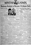 The Montana Kaimin, December 9, 1938