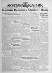 The Montana Kaimin, January 6, 1939