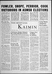 The Montana Kaimin, May 3, 1956