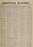 Montana Kaimin, June 3, 1960