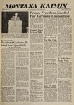 Montana Kaimin, October 14, 1960