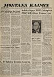 Montana Kaimin, December 8, 1960