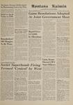 Montana Kaimin, October 31, 1961