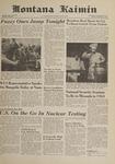 Montana Kaimin, November 3, 1961