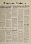 Montana Kaimin, November 9, 1961